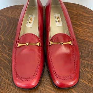 NWOT Talbots Leather Loafers with Brass Hardware